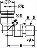 Фитинг-угловой PL06-01, фото 2
