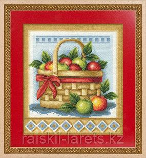 """Набор для вышивания крестиком """"Корзинка с яблоками"""" Н-1151"""