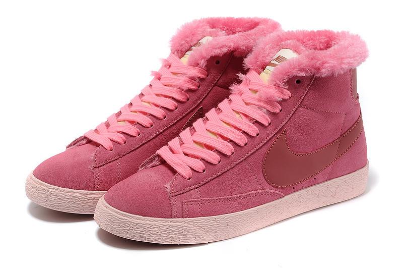 Зимние женские кроссовки Nike Air Max розовые
