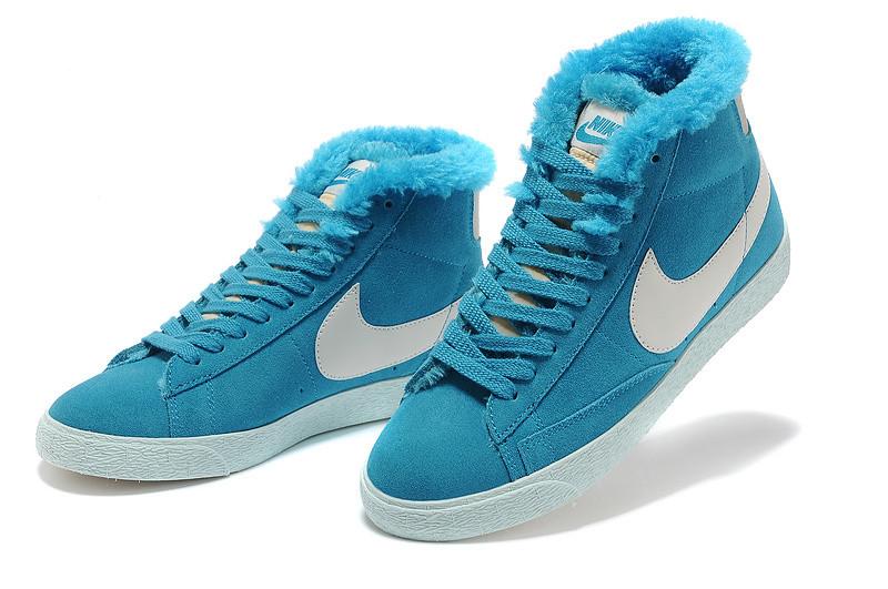 Зимние женские кроссовки Nike Air Max синие