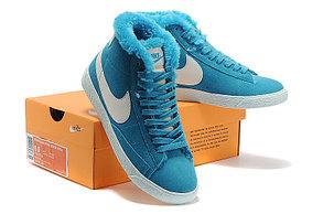 Зимние женские кроссовки Nike Air Max синие, фото 2