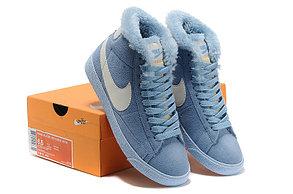 зимние кроссовки женские Nike Air Max голубые, фото 3