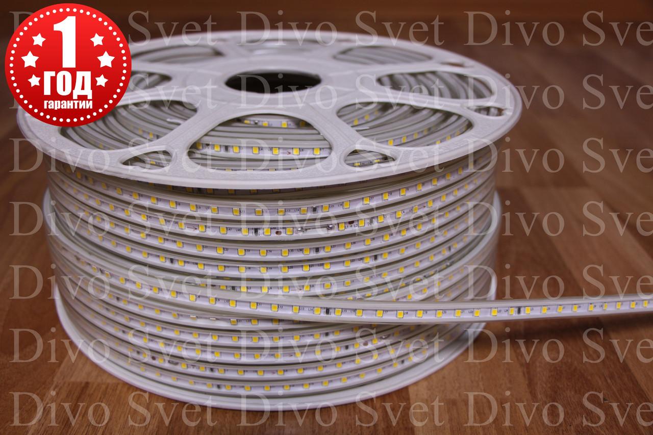 Светодиодная лента SMD 2835 IP67, 100 диодов/м, 220 Вольт, на белом основании. Все цвета в наличии!