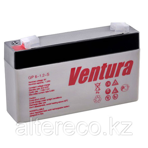 Аккумулятор Ventura GP 6-1.2-S (6В, 1,2Ач), фото 2