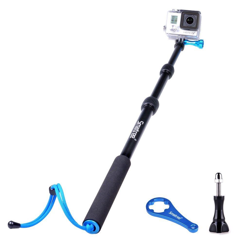 Smatree® SmaPole S1 Полностью аллюминиевый монопод 40-102см для GoPro Hero 4/3+/3/2/1
