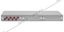"""Кросс оптический 19"""" (ШКОС) укомплектованный на 8 FC портов (комплект с розетками)"""