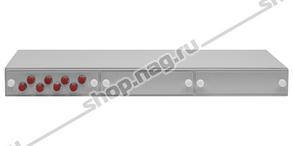 """Кросс оптический 19"""" (ШКОС) укомплектованный на 8 FC портов (комплект с розетками и пигтейлами)"""