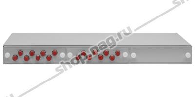 """Кросс оптический 19"""" (ШКОС) укомплектованный на 16 FC портов (комплект с розетками)"""