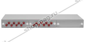 """Кросс оптический 19"""" (ШКОС) укомплектованный на 16 FC портов (комплект с розетками и пигтейлами)"""