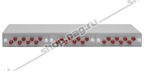 """Кросс оптический 19"""" (ШКОС) укомплектованный на 24 FC портов (комплект с розетками и пигтейлами)"""