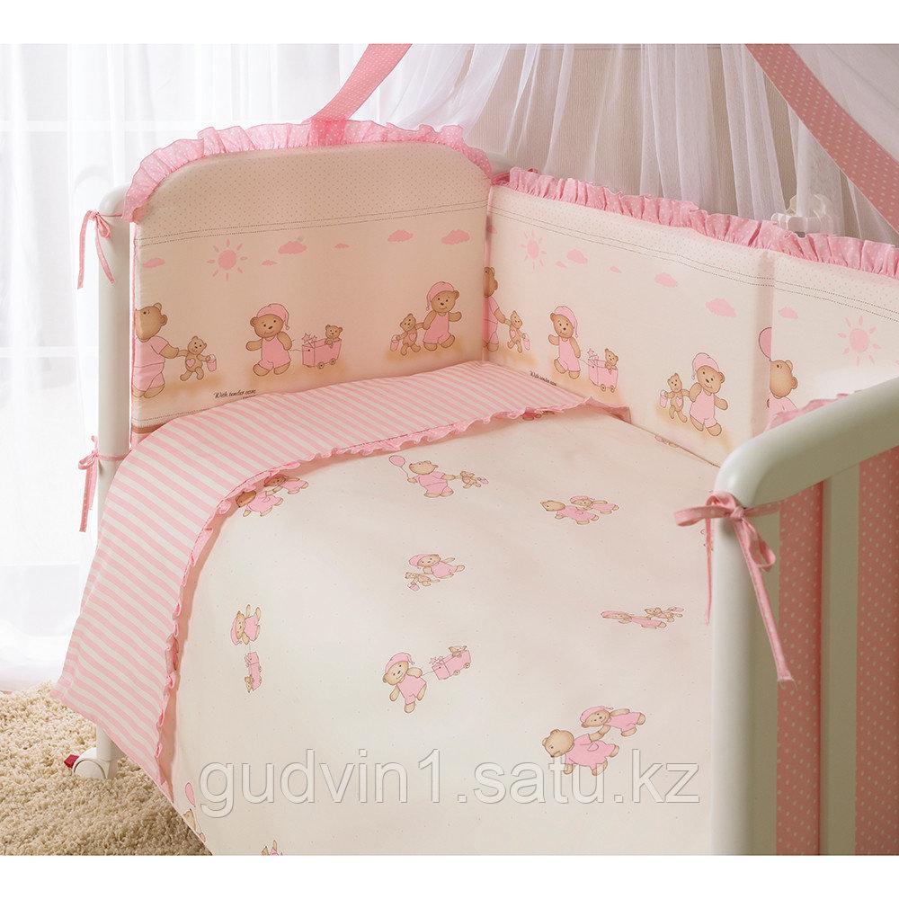 PERINA Комплект в кровать 7 предметов ТИФФАНИ НЕЖЕНКА  Молочный/розовый Т7-01.3