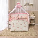 PERINA Комплект в кровать 7 предметов ТИФФАНИ НЕЖЕНКА  Молочный/розовый Т7-01.3, фото 4