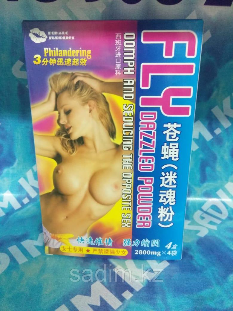 Fly Dazzled Powder - Женский порошок для возбуждения упаковка - 4 шт