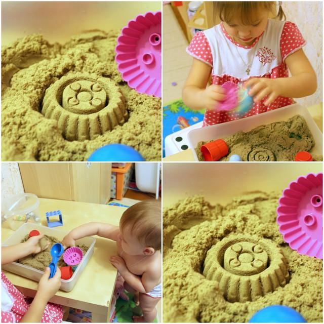 Кинетический песок | Kinetic Sand | Живой песок | Домашняя песочница