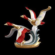 Статуэтка Гуси. Керамика, ручная работа, Италия