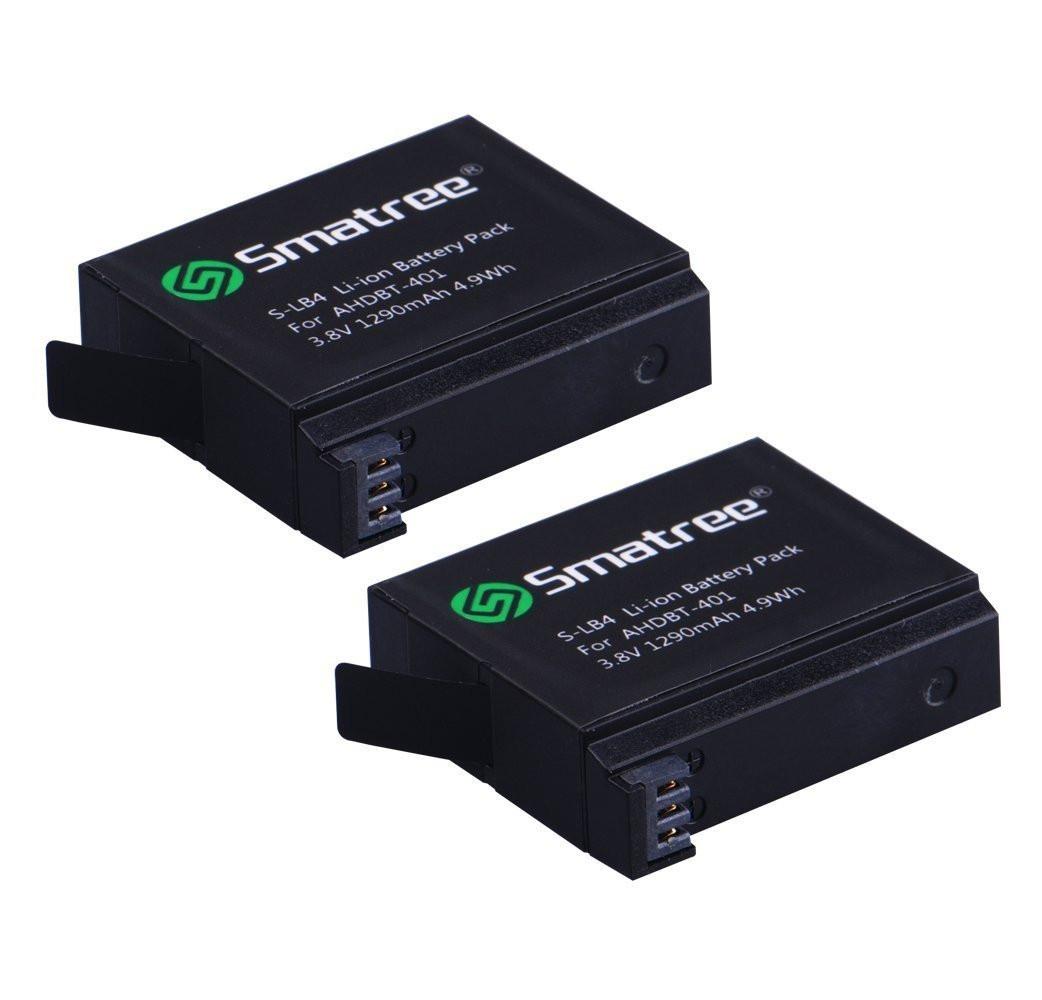 Smatree® Батарея 1290mAh для GoPro HERO 4 (1шт).