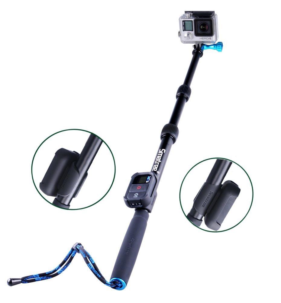 Smatree® SmaPole S2 Аллюминиевый монопод 40-102см для GoPro Hero 4/3+/3/2/1 и SJ4000