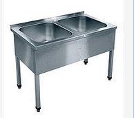Ванна моечная 2-х секц. ВМП-6-2-5 РЧ (500х500х300) краш.разб.