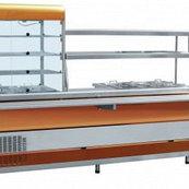 Прилавок-витрина холодильный мармитный универсальный ПВХМ-70КМУ (2275, цветной)