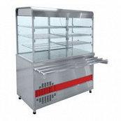 Прилавок-витрина холодильный ПВВ(Н)-70КМ-С-01-ОК с охлаждаемой камерой (саладэт закрыт., 1500мм.)