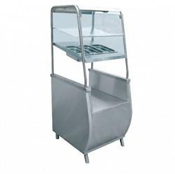 Прилавок для столовых приборов ПСПХ-70Т с хлебницей (нерж)