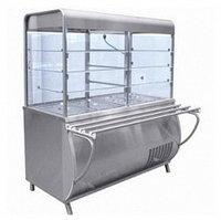 Прилавок-витрина холодильный ПВВ(Н)-70М-С с гастроемкостями (саладэт закрыт., 1500мм.)
