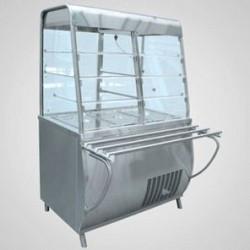 Прилавок-витрина холодильный ПВВ(Н)-70Т-С-01с гастроемкостями (саладэт закрыт., 1500 мм.)