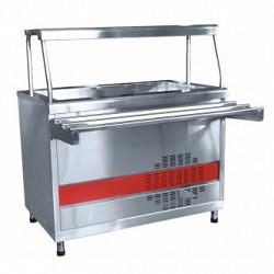 Прилавок холодильный ПВВ(Н)-70КМ-02-НШ вся нерж.с ванной, нейтрал.шкаф (1120мм)