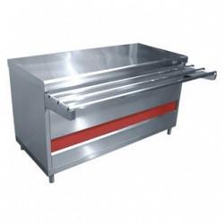 Прилавок тепловой ПВТ-70КМ-02 вся нерж. (тепловой шкаф, тепловентилятор, без полок, 1500 мм.)