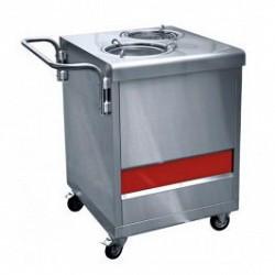 Прилавок ПТЭ-70КМ(П)-80 для подогрева тарелок (80 тарлок, 2*240 мм, 630 мм.)