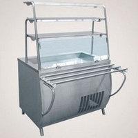 Прилавок холодильный ПВВ(Н)-70Т-01 (открытый, 3 полки, подсветка, охлажд. ванна h-85мм., 1500 мм.)