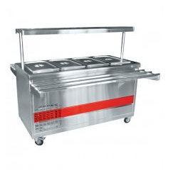 Прилавок холодильный ПВВ(Н)-70ПМ-01-НШ (откр., поска с посветкой, с г/емкост., 1500 мм.)