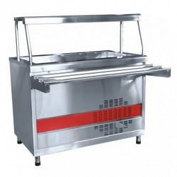 Прилавок холодильный ПВВ(Н)-70КМ-03-НШ вся нерж.с ванной, нейтрал.шкаф (1500мм)