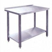 Стол производственный СПРП-7-4 (1400х700х850) пристенный нерж.