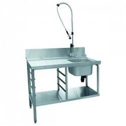 Стол предмоечный СПМП-6-3 (1200х671) для посудомоеч. машины МПК-700К