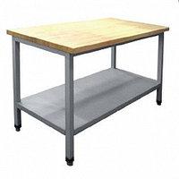 Стол кондитерский СКР-7-2 (1400х700х860) столешн.-бук, каркас крашен.