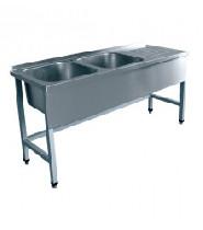 Стол для мойки овощей СМО-7-7 РН (1770х700х860) нерж.
