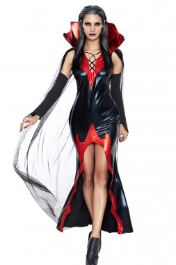 """Виниловый костюм """"Графиня ночи"""" размер XL"""