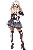 """Платье на хеллоуин """"скелетон"""" размер L, фото 1"""