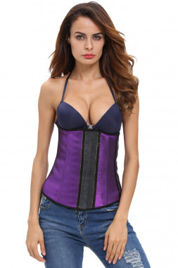Эластичный утягивающий фиолетовый корсет под грудь, размер M