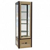 Холодильная витрина Carboma R400Свр Люкс (золото)