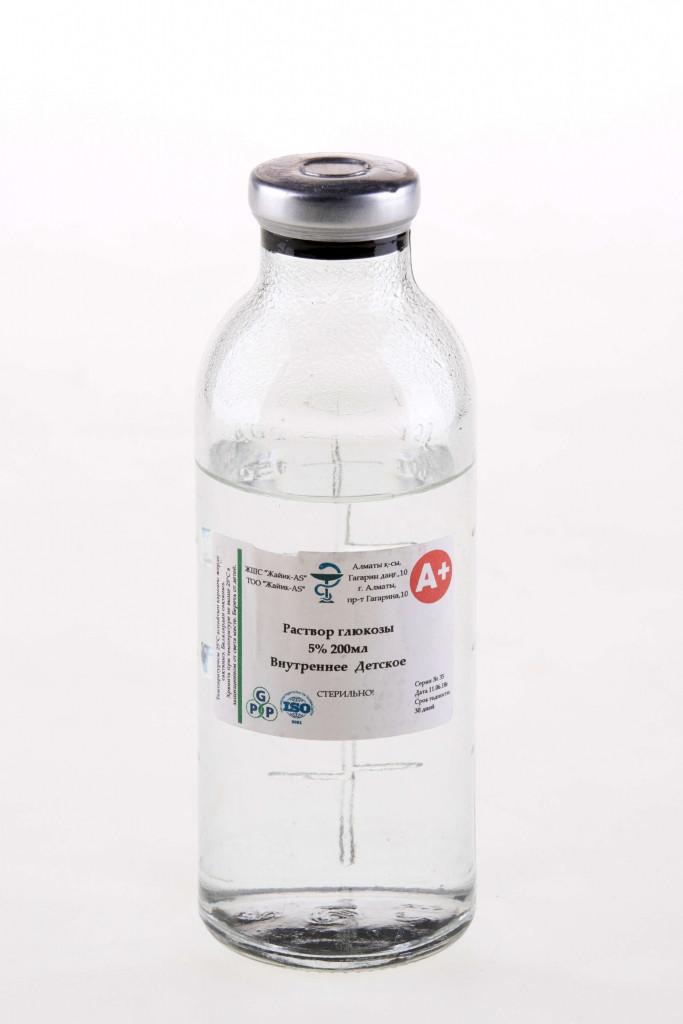 Глюкоза 5% 200мл для питья