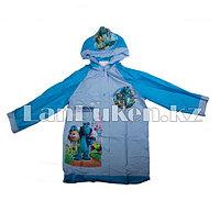 Дождевик детский из непромокаемой ткани с капюшоном (Университет монстров) размер XL