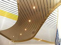 Реечный потолок Люксалон Золото