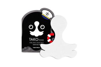 Tony Moly Tako Pore One Shot Nose Pack 1,5gr / Очищающий пластырь для Т-зоны лоб и нос от черных точек,жировых