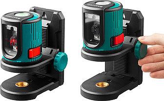 Лазерный уровень построитель плоскостей в наборе с держателем и штативом KRAFTOOL 34700-4, фото 2