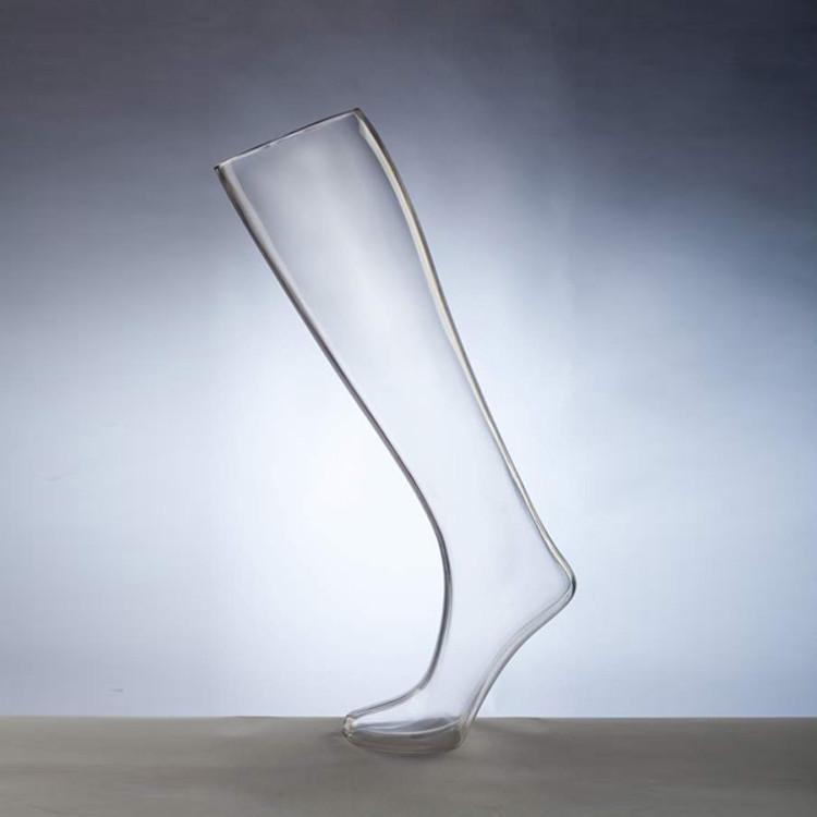 Форма ноги женская для носков удлиненная на подставке прозрачная - DTFL-002