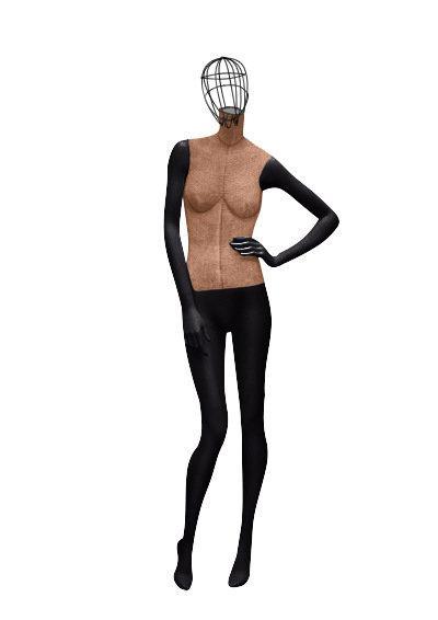 """Женские тканевые манекены для одежды """"Ностальжи"""" с проволочной головой"""