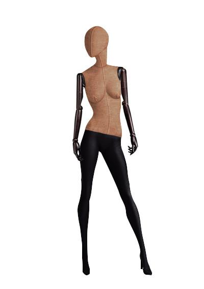 """Женские тканевые манекены для одежды """"Ностальжи"""" с деревянными руками"""