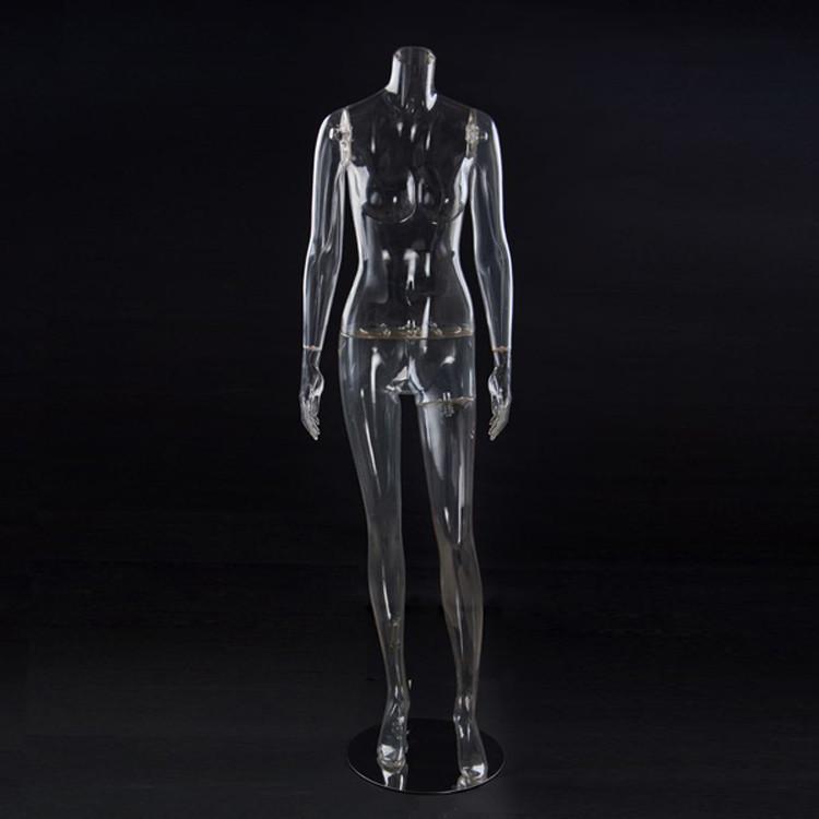 Женский манекен для одежды без головы прозрачный